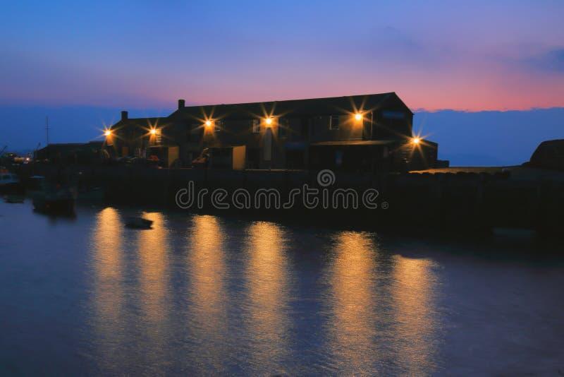 Il Cobb in Lyme Regis immagine stock libera da diritti