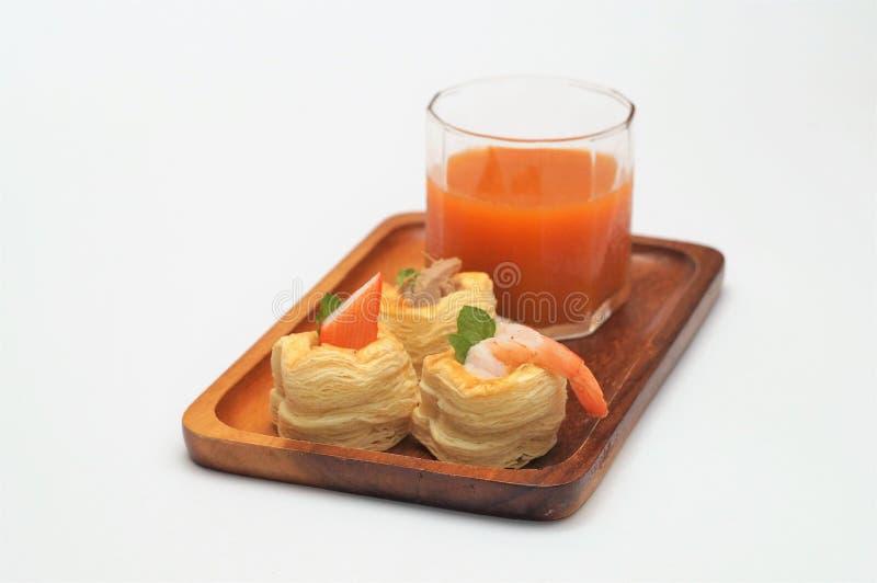 Il cocktail, casa ha fatto il forno, pasto fresco fotografia stock