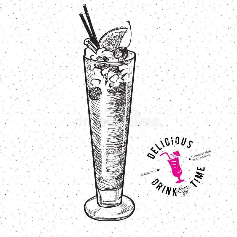Il cocktail dell'imbracatura di Singapore isolato royalty illustrazione gratis
