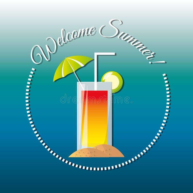 Il cocktail fresco delizioso per celebra le vacanze estive royalty illustrazione gratis