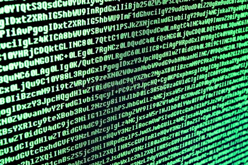 Il codice di programma è i caratteri, i numeri e le lettere immagini stock