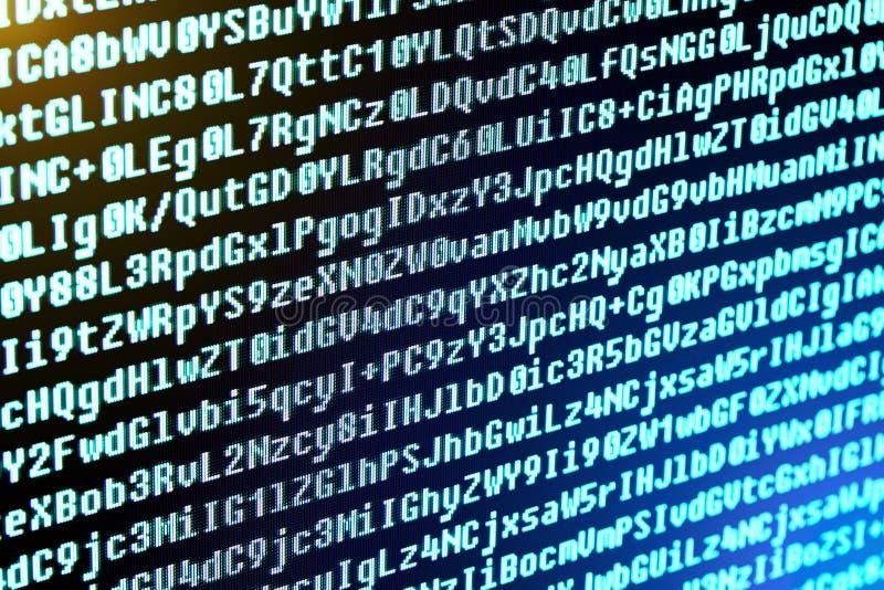 Il codice di programma è i caratteri, i numeri e le lettere immagine stock libera da diritti