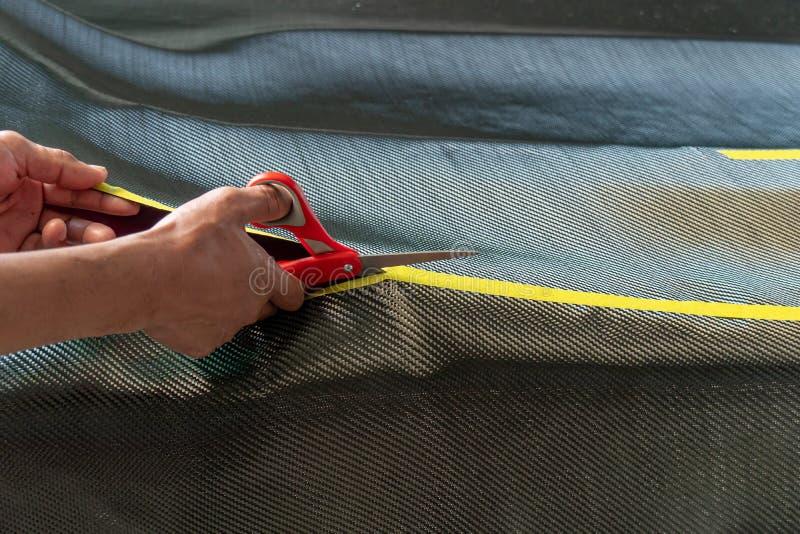 Il cofano anteriore del cappuccio ? fatto di carbonio fotografia stock