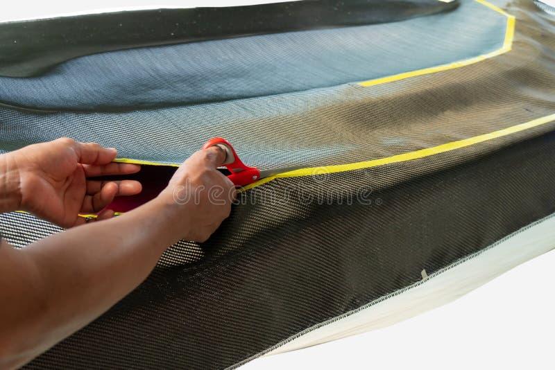 Il cofano anteriore del cappuccio ? fatto di carbonio fotografia stock libera da diritti