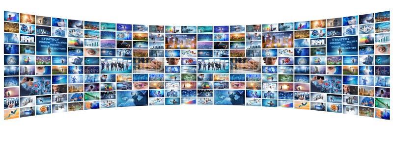 Il collage di vari concetti di affari immagini stock libere da diritti