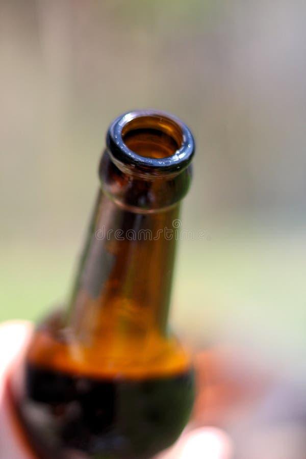 il collo di bottiglia di birra fotografia stock libera da diritti