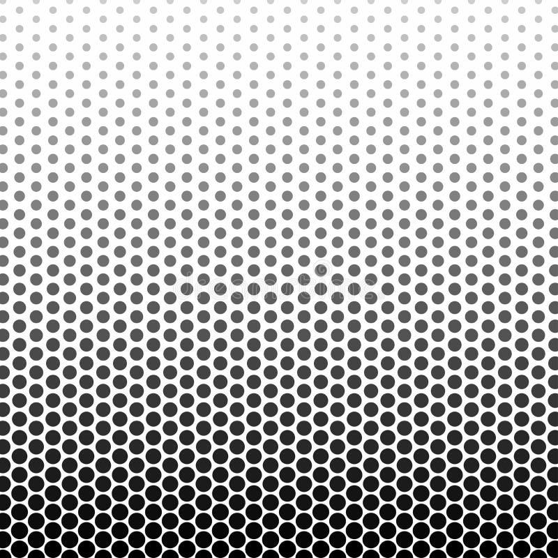 Il colore in bianco e nero astratto del cerchio modella il modello di semitono royalty illustrazione gratis