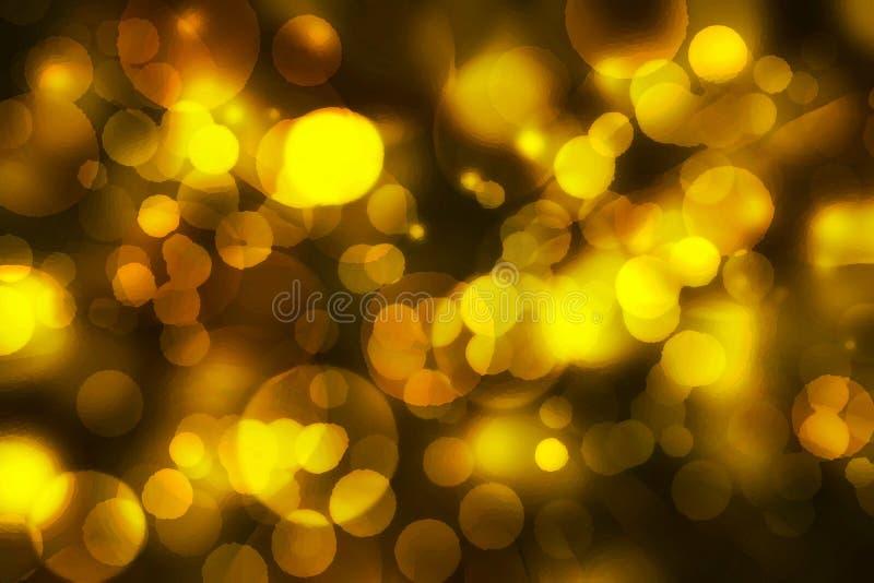 Il colore defocused giallo accende il bokeh con il fondo di struttura, gol illustrazione vettoriale