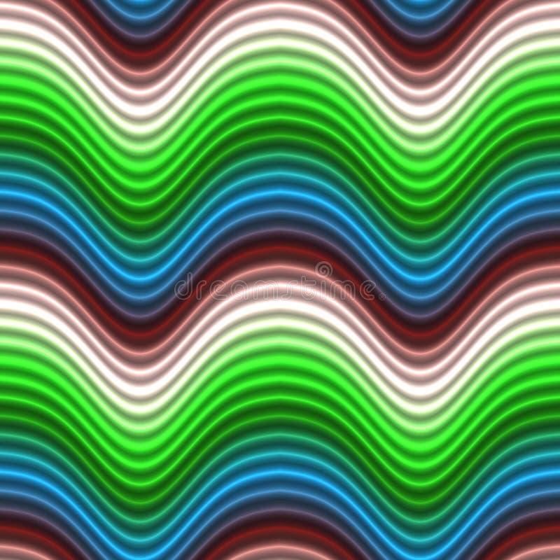 Il colore di arte di schiocco fluttua il colore rosso blu senza giunte illustrazione vettoriale