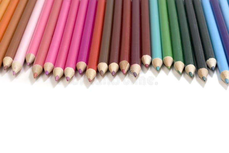 Il colore disegna a matita la priorità bassa immagini stock libere da diritti