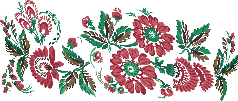 Il colore fiorisce l'ornamento fotografie stock