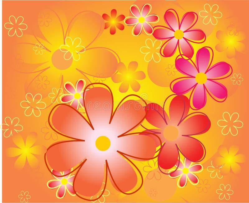 Il colore fiorisce la priorità bassa illustrazione vettoriale