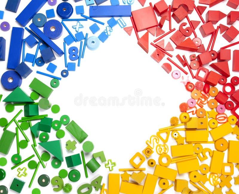 Il colore gioca il confine fotografie stock libere da diritti