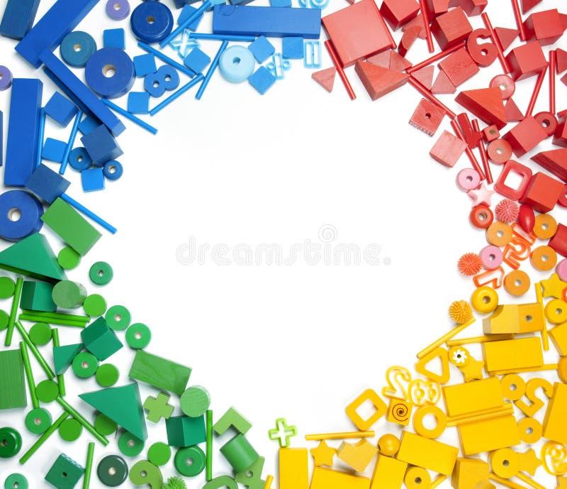 Il colore gioca il confine immagine stock
