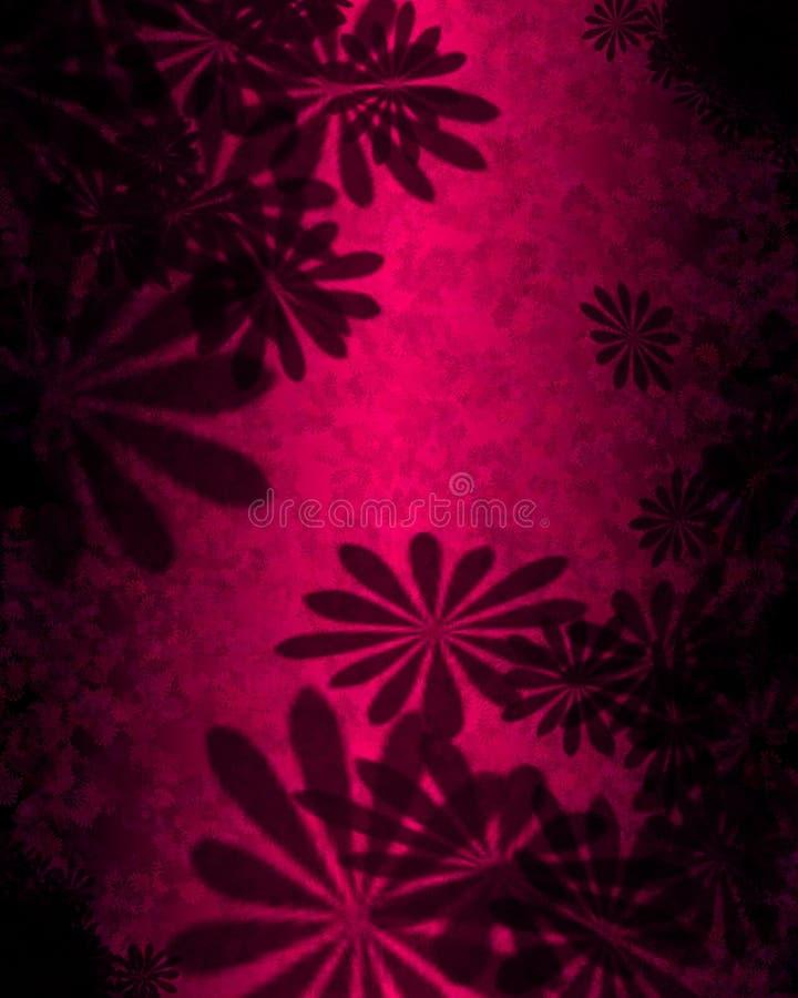 Il colore rosa fiorisce l'estratto illustrazione vettoriale