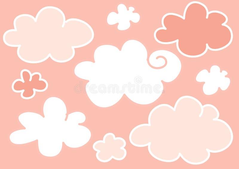 Il colore rosa si apanna la priorità bassa royalty illustrazione gratis