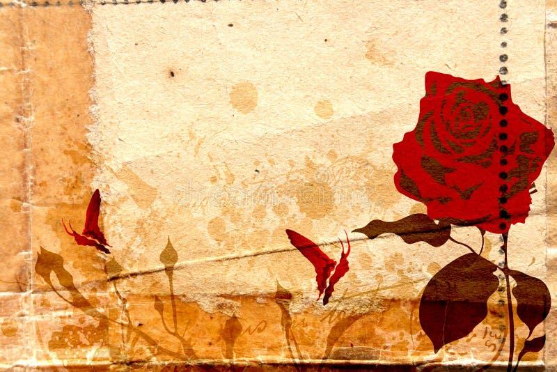 Il colore rosso è aumentato royalty illustrazione gratis