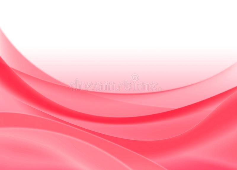 Il colore rosso astratto curva la priorità bassa illustrazione di stock