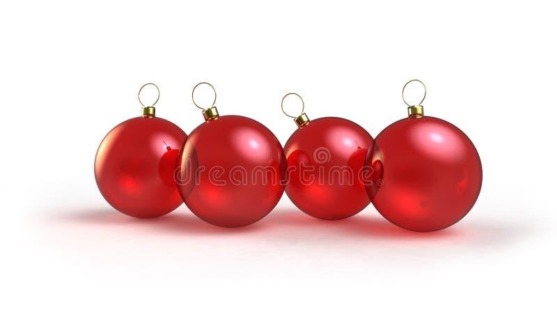 Il colore rosso bolle decorazione illustrazione di stock