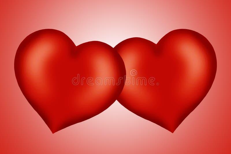 Il colore rosso del biglietto di S. Valentino è aumentato illustrazione vettoriale