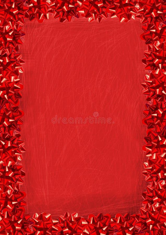 Il colore rosso piega il bordo illustrazione di stock