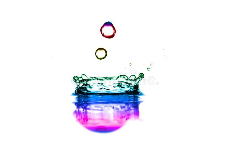 Il colore spruzza dell'acqua fotografia stock