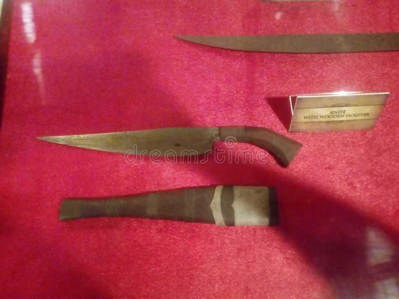 Il coltello più vecchio della storia filippina immagini stock