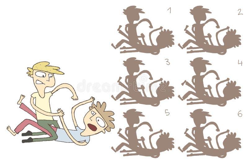 Il combattimento ombreggia il gioco visivo royalty illustrazione gratis
