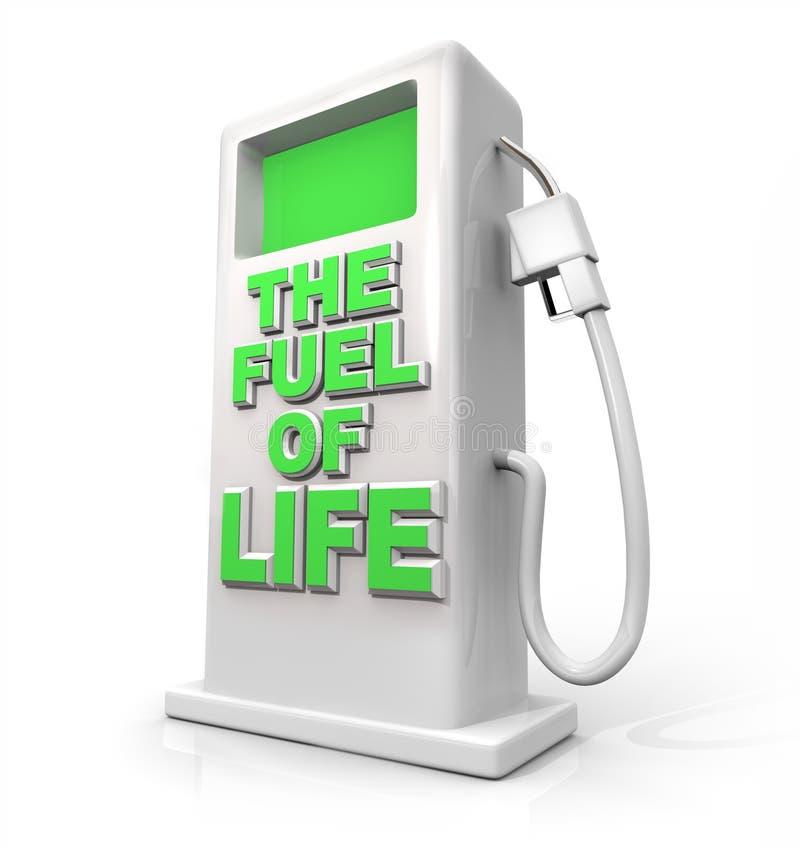 Il combustibile di vita - pompa di benzina per il rifornimento di carburante illustrazione di stock