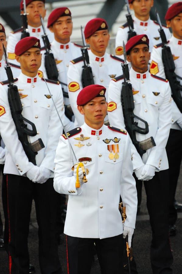 Il commando custodire-de-honor fotografia stock