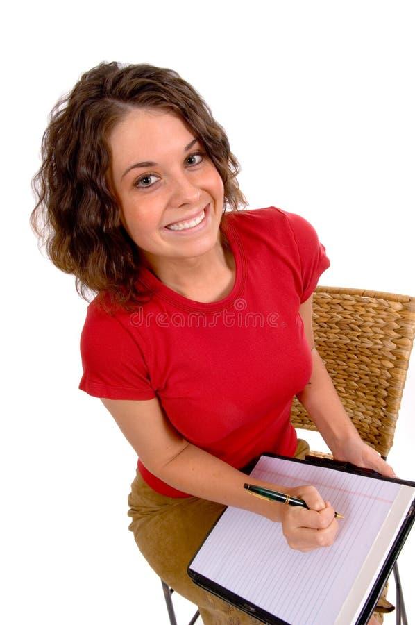 Il commercio di aiuto ready per catturare le note o la dettatura fotografia stock libera da diritti