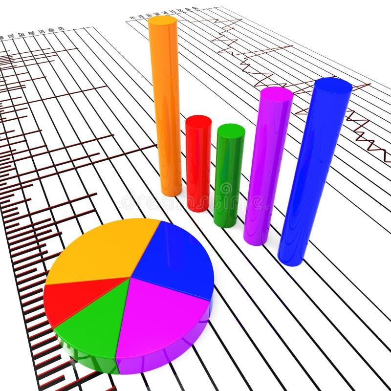 Il commercio di manifestazioni rapporto del grafico ha preveduto e Diagram illustrazione di stock
