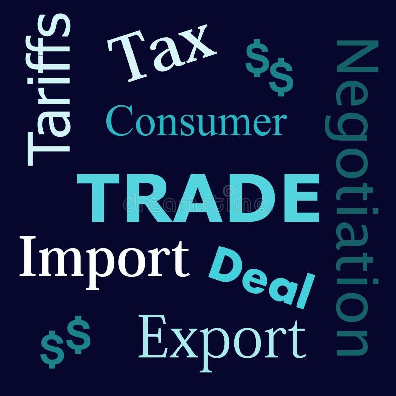 Il commercio esprime il testo royalty illustrazione gratis
