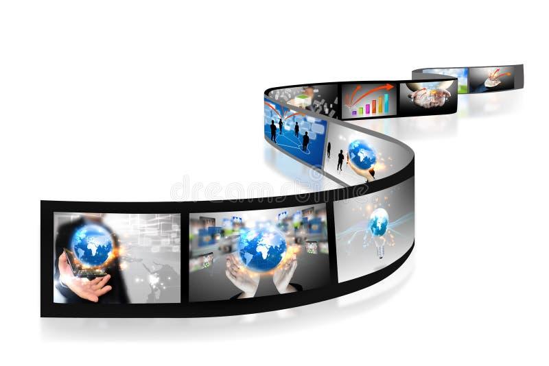 Il commercio filma l'accumulazione immagine stock libera da diritti