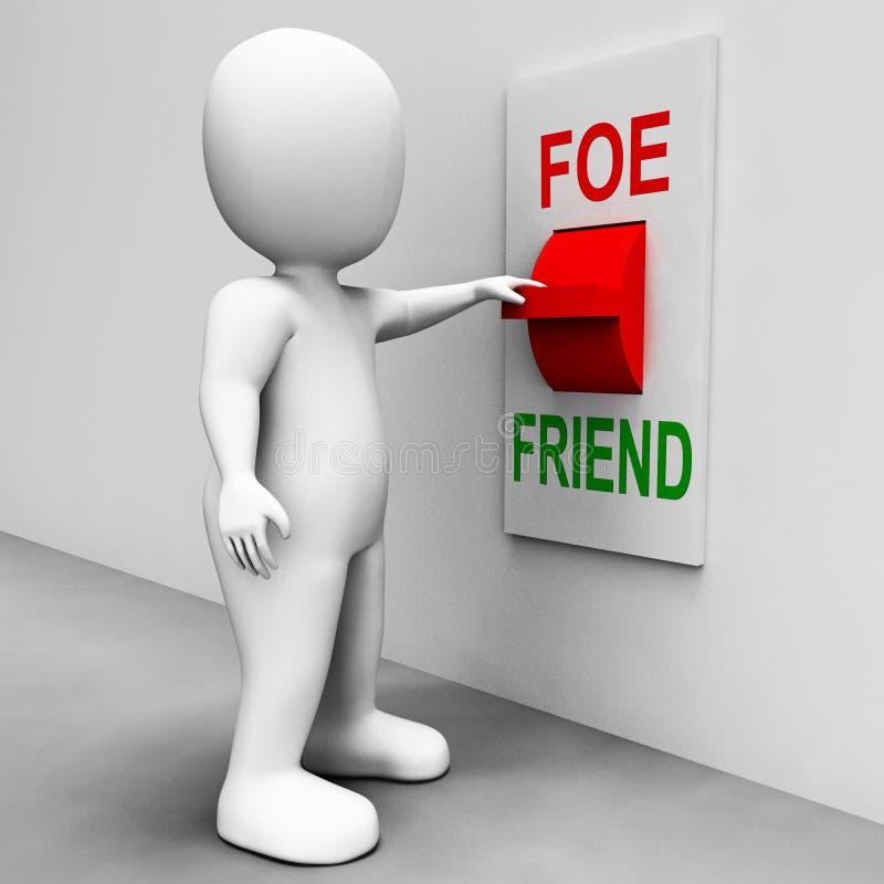 Il commutatore del nemico dell'amico mostra Ally Or Enemy illustrazione vettoriale