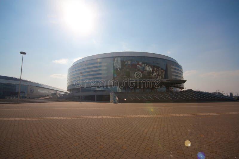 Il complesso dell'hockey dell'Minsk-arena, Bielorussia fotografia stock