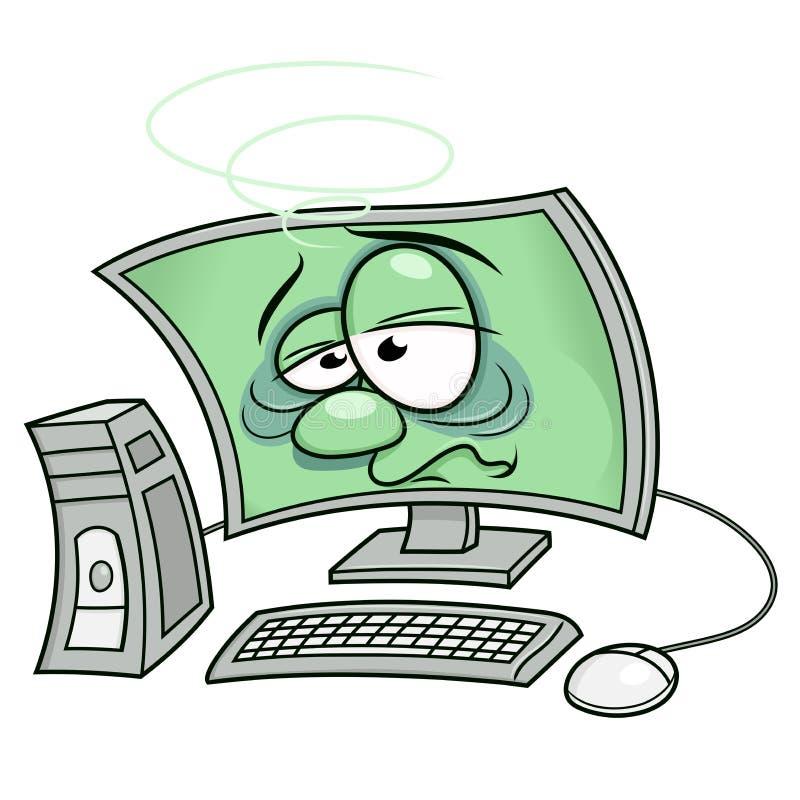 Il computer si è ammalato 3 illustrazione di stock