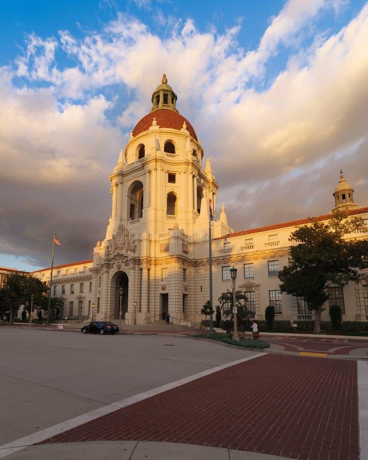 Il comune iconico di Pasadena nella contea di Los Angeles immagine stock