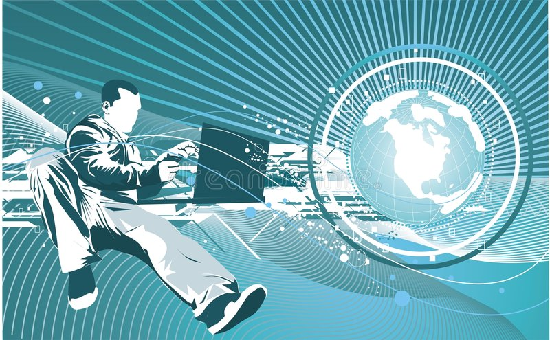 IL concept de technologie illustration de vecteur