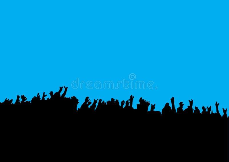 Il concerto canta mani illustrazione di stock