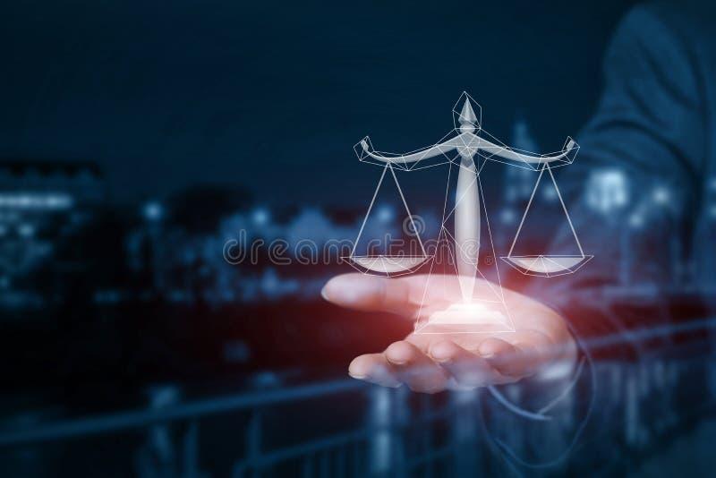 Il concetto è il principio legale di affari di affari fotografia stock
