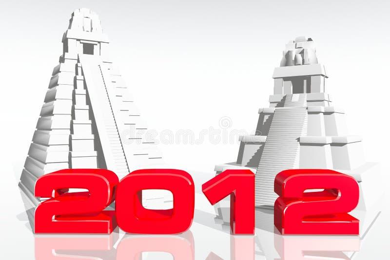 Il concetto 2012 di previsione del Maya 3D rende illustrazione vettoriale
