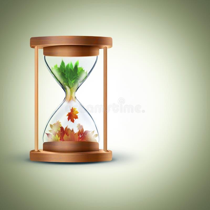 Il concetto cambiante di stagioni illustrazione vettoriale
