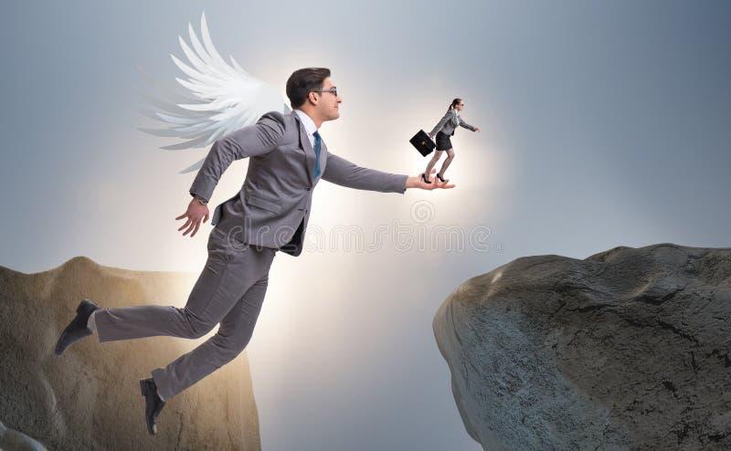 Il concetto dei capitali di rischio con l'investitore di angelo immagine stock libera da diritti