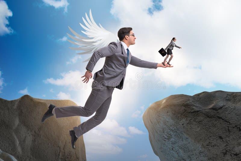 Il concetto dei capitali di rischio con l'investitore di angelo fotografia stock libera da diritti