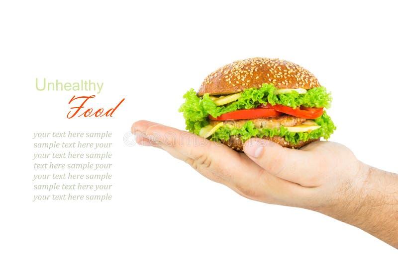 Il concetto della dieta non sana, alimento nocivo, sovrappeso, peso fotografia stock