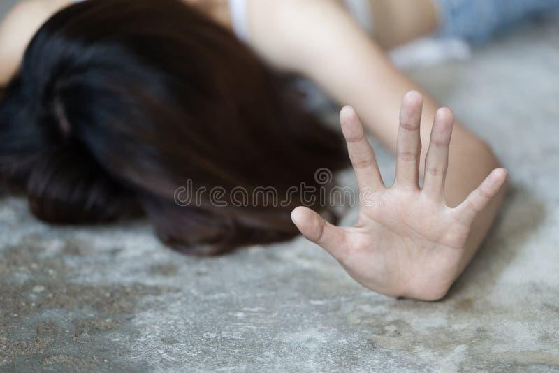 Il concetto di abuso sessuale di arresto, ferma la violenza contro le donne, la Giornata internazionale della donna, il concetto  immagini stock