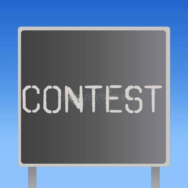 Il concetto di affari di concorso del testo di scrittura di parola per concorrenza migliora che l'altra rappresentazione per l'el illustrazione di stock