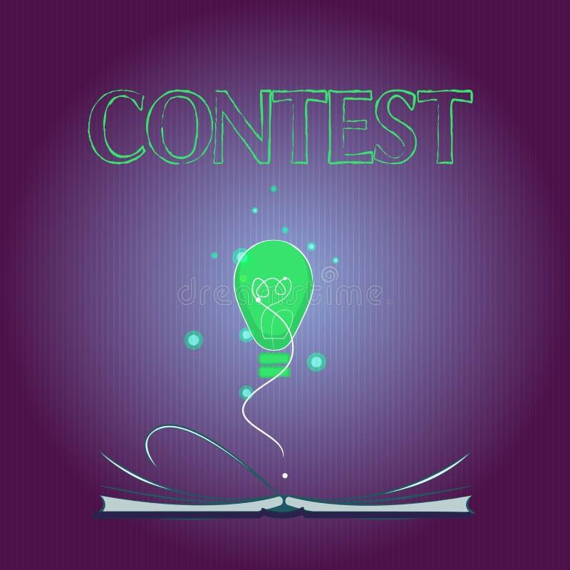 Il concetto di affari di concorso del testo di scrittura di parola per concorrenza migliora che l'altra rappresentazione per l'el illustrazione vettoriale