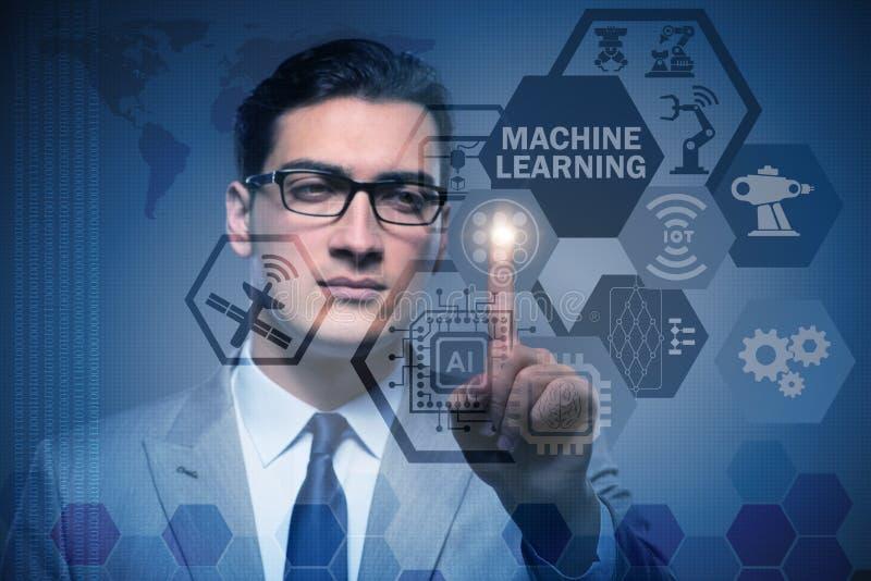 Il concetto di calcolo di apprendimento automatico di moderno tecnologia immagini stock libere da diritti
